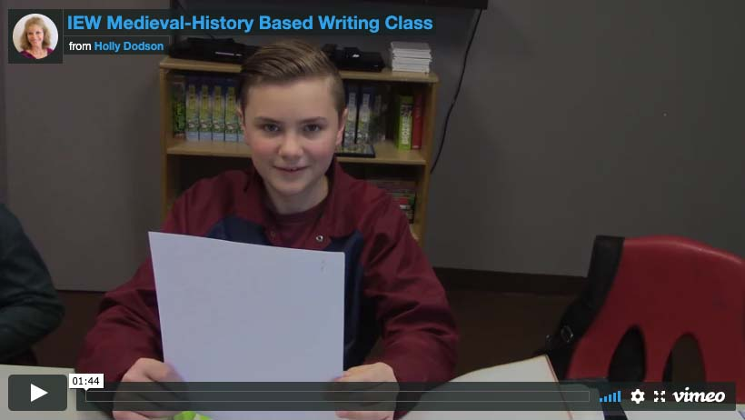 IEW Medieval History Based Writing Students Read Their Work